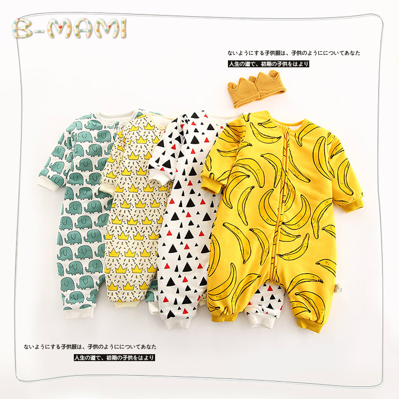 baby boy Rompers Down Parkas Newborn bebe clothes baby nest Print plush jumpsuit Roupa Infant Jumpsuits<br><br>Aliexpress