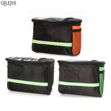 2S10400-BK Outdoor Bike Cycling Bicycle Handlebar Bag Front Frame Tube Pouch Basket Pannier
