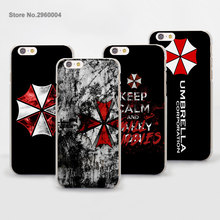 Umbrella Corporation Theme Resident Evil transparent clear phone Cases Cover for Apple iPhone 6 6s Plus 7 7Plus SE 5 5s 4s 5c(China)