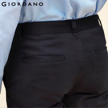 Giordano Men Khakis Twill Pants Ropa Casual Hombre Mid-low Rise Khakis Pants Solid Color Inno Trousers Brand Clothing(China)
