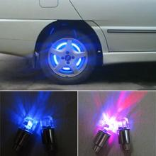 2PCS Car Tire Tyre Wheel LED Valve Cap Stem Lights Lighting Blue Decoration FIT Lada Opel Skoda Volkswagen Fiat Ford
