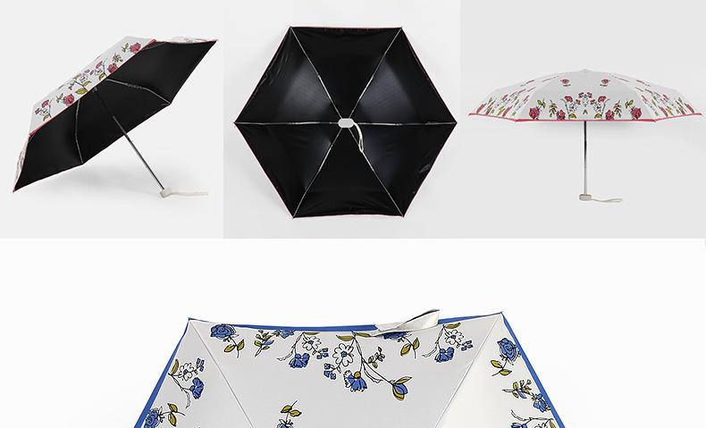 Romantic New Arrival Folding Rose Umbrella Sun-Shading Sun Umbrella ...