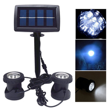 12LED Solar Waterproof IP65 Spotlight Outdoor Lighting Courtyard Garden Pool Decoration Lights Underwater Light CLH(China)