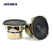 Aiyima 2PCS 4 inch 8 Ohm 60W Mid Bass Audio Speaker Portable Mini Stereo Speakers woofer Loudspeaker(China)