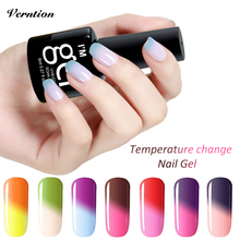 Verntion Gel Lucky Uv Nail Polish 8ml Temperature Change Color Changing Soak-off Gel Polish LED UV Nail Art Gel Lacquer Varnish(China)