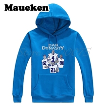 Men Hoodies dallas Dak Dynasty Dak Prescott Ezekiel Elliott Dez Bryant Jason Witten Sweatshirts for Cowboys fans Thick W17110113(China)