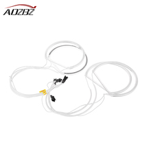 CCFL Car Angel Eyes Light Headlight Tube White Halo Cotton Light for BMW E36 3 E38 7 E39 5 E46 4PCS (131*2+146*2)(China)