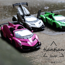 1:32 kids toys LBJN Veneno Convertible Open the door Die casting Car model metallic material Collection Decoration