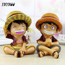 YNYNOO DIY Studio One piece Luffy Action Figure Toys Straw hat Luffy Bank Money Box Collection Model Toys for Children AF084(China)