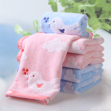 Baby Cotton Cartoon Towel Set 3Pcs Bath Hand Face Beach Pink bird towels embroidery family adult child gift wholesale FG281