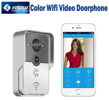 2015 Hot Sale WIFI Video Doorphone Color Video Door Phone Support iOS Android App Wilress Video Doorbell Intercom System
