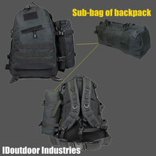 Utility Pouch MOLLE Vertical Accessories Pouch Backpack sub-bag  black nylon 600D military gear