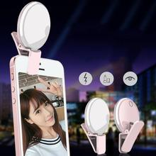 Portable Rechargeable Mini Selfie Flash Clip-On LED Fill Camera Lamp Light for Mobile Cell Phone new