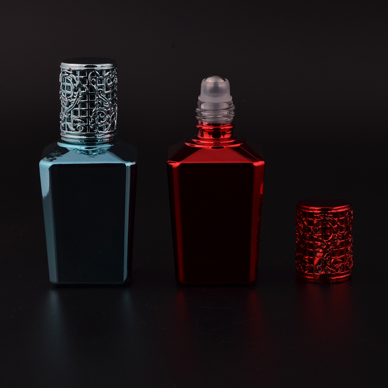 MUB 15Ml Mini Cute Steel Ball Roll-On Refillable Perfume Bottle &amp;Empty Perfume  Case With Alloy cover  portable bottle <br><br>Aliexpress