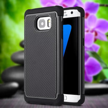Shock Absorption Slim Hybrid Dual Layer Armor Defender Football Pattern Protective Case Cover For Samsung Galaxy S7 edge
