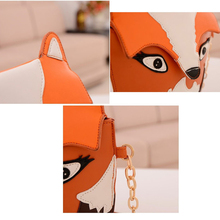 VSEN 10pcs StyleNew fashion women leather handbag cartoon bag fox shoulder bags women messenger bag Orange