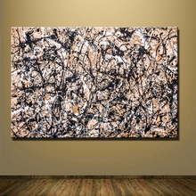 2016 genuine fashion sales wall art Large paintings For Home Decoration Ideas painting canvas Jackson Pollock sheet studies