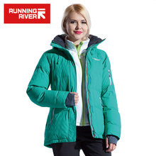 RUNNING RIVER Brand Winter Ski Jacket For Women 4 Colors Size S - 3XL Waterproof Classic Short Winter Jacket Women #L4995(China)