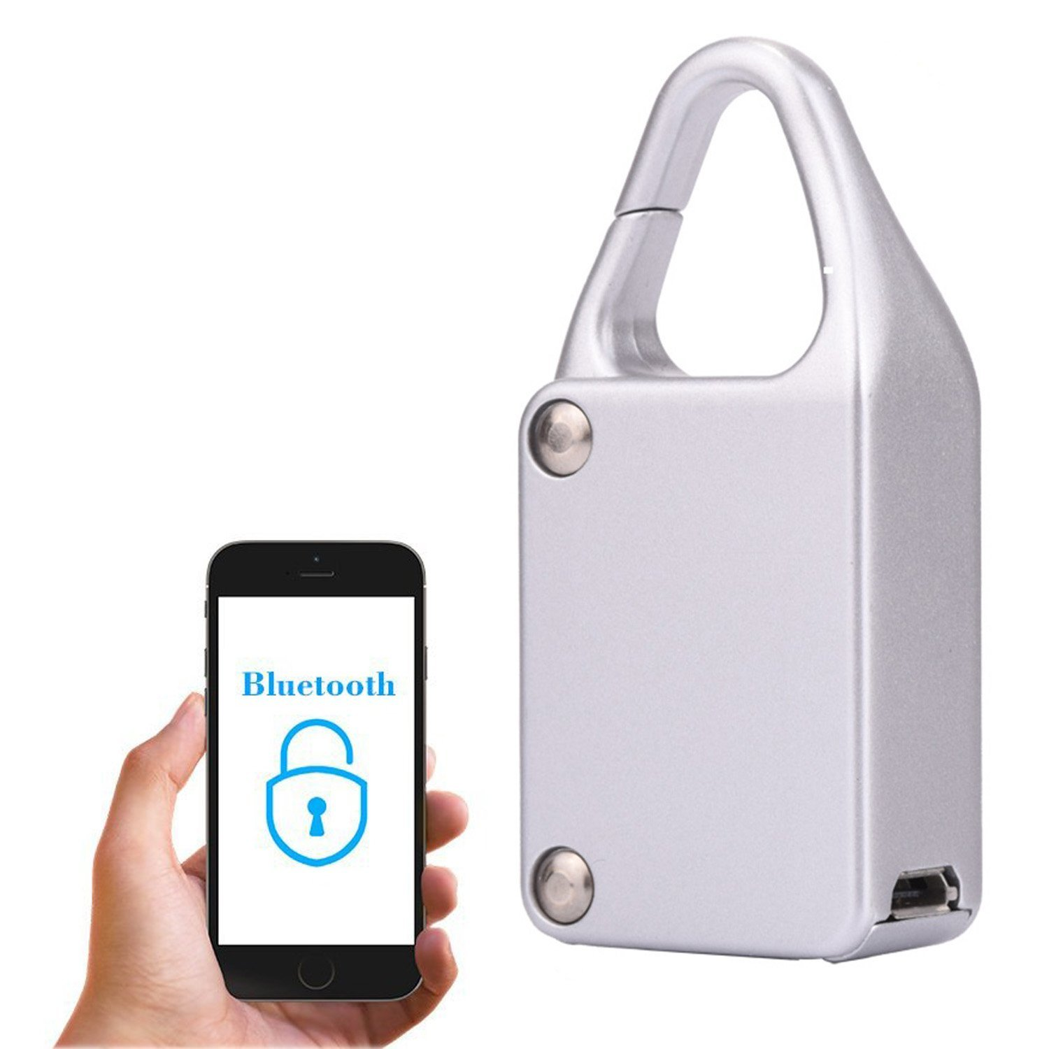 Smart Bluetooth Lock Waterproof Keyless Remote Control Locker Outdoor Anti Theft PadLock for Intelligent Phone Android/IOS APP <br>