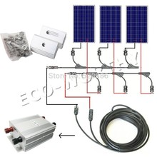 300w solar system kit 3 x 100W photovoltaic PV solar panel system, solar module for RV boat, car , home solar system(China)