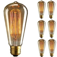 Lightinbox E27 40W Vintage light bulb Edison Style ST64 Squirrel Cage tungsten filament glass antique Lamp Not Dimmable 220V