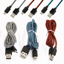 2A Rope Braided Quick Micro USB Data&Sync Charger Cable For Samsung Android Smart Phone Tablet Data Sync GSCP2524