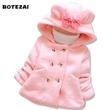 BOTEZAI Baby Girls Jacket 2017 Winter Jacker For Girls Minnie Coat Kids Warm Hooded Children Outerwear Coat Infant Girls Clothes(China)