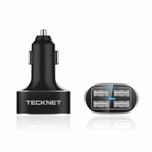 TECKNET 48W/9.6A DC 12/24V 4 Ports USB Car Charger Adapter for Apple iPhone 5 6 6 plus iPad Android Samsung Sony HTC Tablet PC