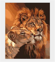 Cheap Hot Frameless Animal DIY Digital painting paint by numbers High quality Abstract drawing Lion canvas paintings Kids Gift