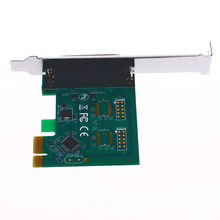 Full Duplex Channel Parallel Port DB25 25Pin LPT Printer to PCI-E ExpessCard Converter PCI Adapter + Driver CD(China)