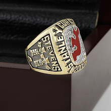 2000 New Jersey Devils NHL Hockey Stanely Cup Championship Ring 10-13 size with cherry wooden case as a gift(China)