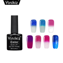 Yinikiz Chameleon Nail Gel Polish Temperature Thermal Color Change Gel Nail Varnish Soak Off UV Long Lasting Gel Nail Polish