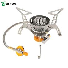 Windproof Compact Camping Stove Foldable Butane Burner Outdoor Camp Infrared Heating Stoves Hiking With Ignition