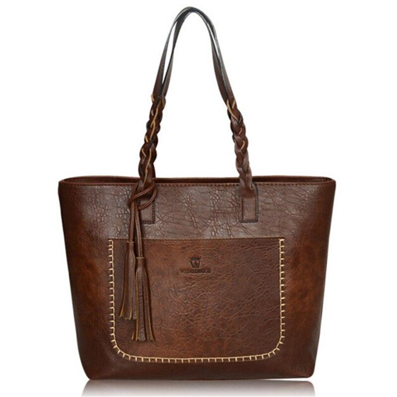 Women Vintage Bags Retro PU Leather Tote Bag Girls Large China Handbags Women Tassel Casual Hand Bag Shoulder Sac Femme,WH0130<br><br>Aliexpress
