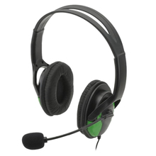 Factory Sales Chatting Noise Cancelling USB Wired Headphones within Microphone for Computer PS4/PS3Slim/PS3CECH4000-Green Black(China)