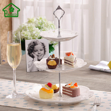 1 Set 2 or 3 Tier Ellipse/Crown Wedding Party Birthday Cake Plate Stand Centre Handle Fitting Rod Fruit Plates Stand Pastry Tray