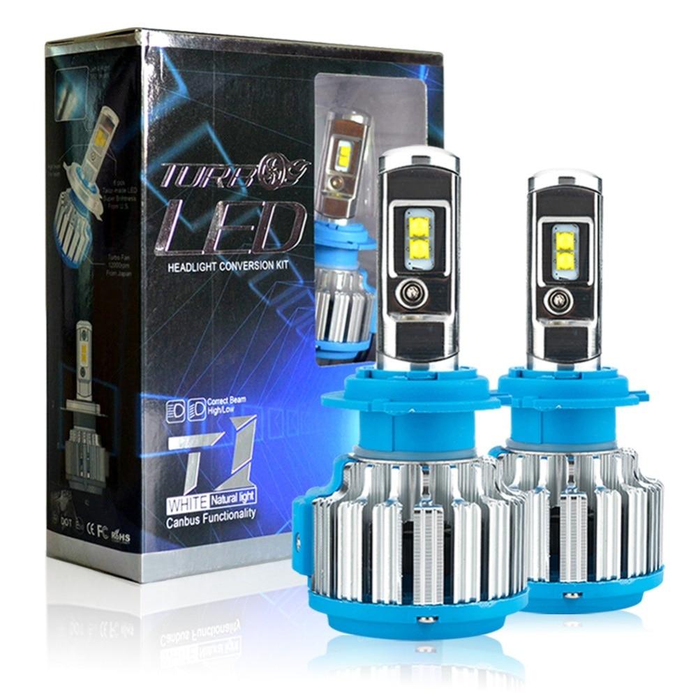 1set H7 LED H4 H1 H3 H11 9005 9006 HB4 70W 7000lm Car Headlights Front Fog Light Bulb Automobiles Headlamp 6000K Car Lighting<br>