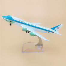 Air United States Of America Airlines Air Force One Boeing 747 B747 Plane Model Aircraft Airways Airplane Model 16cm