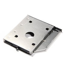 "PROMOTION! Universal Aluminum 12.7mm SATA 3.0 2nd Caddy 2.5"" HDD Case SSD Enclosure for Notebook 12.7mm ODD DVD ROM Optibay"