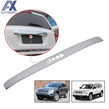 AX FOR JEEP COMPASS PATRIOT CHROME TAILGATE TRIM REAR TRUNK LID COVER STRIP BACK BOOT HATCH DOOR GRAB HANDLE MOLDING ACCESSORIES(China)