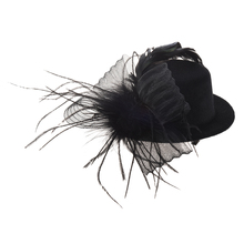 Organza veil foil hat mini top hat hair clip(China)