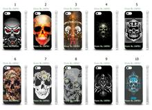 Mobile Phone Cases Wholesale 10pcs/lot Skull Design Protective White Hard Case For Iphone4 4S Cases