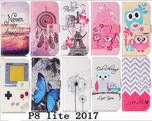 Case for Huawei P8 Lite 2017 PU+TPU Case for Huawei P 8 Lite 2017 P8lite PRA-LX1 PRA-LX3 PRA-LA1 Wallet Flip mobile phone bag