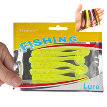 6Pcs/lot Soft Fishing Lure 7.5cm 3g Fake Artificial Bait Fishing Lures Soft Plastic For Spinning Telescopic Fish ZB391