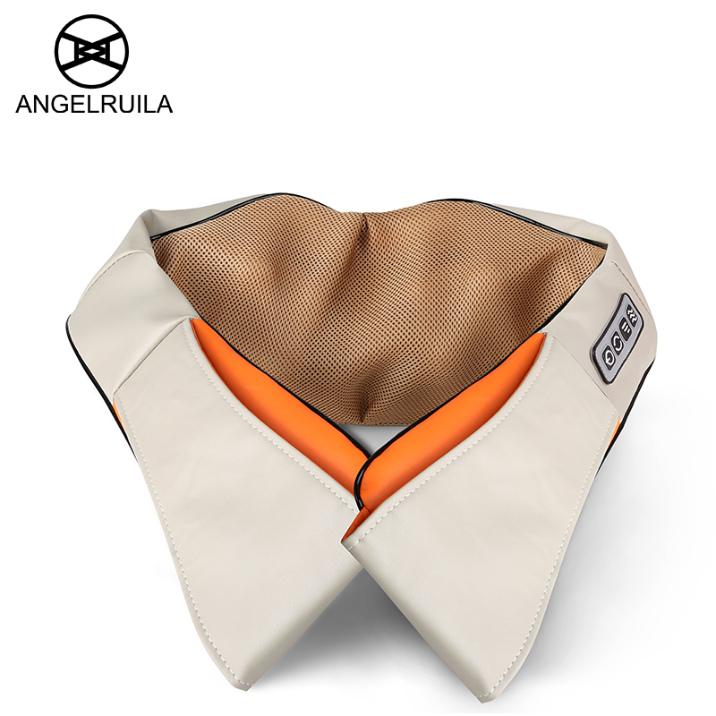 Angelruila U Shape Car/Home Neck Massager Electrical Shiatsu Shoulder Back Body Massagers Infrared 3D Massagem Flat EU Plug<br>