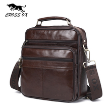 CROSS OX Mens Genuine Leather Handbag Shoulder Bag Oil Wax Cow Leather Bag Vintage Casual Style Flap Bags SL422M(China)