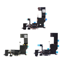 High Quality For iPhone 5S 5C 5G 5 Charger Charging Data USB Dock Port Flex Cable With Headphone Audio Microphone(China)