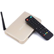 Cheapest Price TV Box US Plug Golden Color Amlogic S812 Quad-core Android 4.4 TV Box Android TV Set Top Box with Remote Control