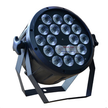 New Eyourlife 2015 LED Flat Par Lights 18x12W 4in1 RGBW Led Slim Par Can with EU US Plug for Club Party Stage Disco DJ Lighting