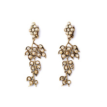 Perfume Women Long Clip Earrings No Pierced Ears From India Gold Color Filled Famous Brand Jewelry(China)